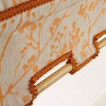 Basiste orange orange roller blind braid beech pole
