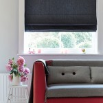 Chambray charcoal roman blind