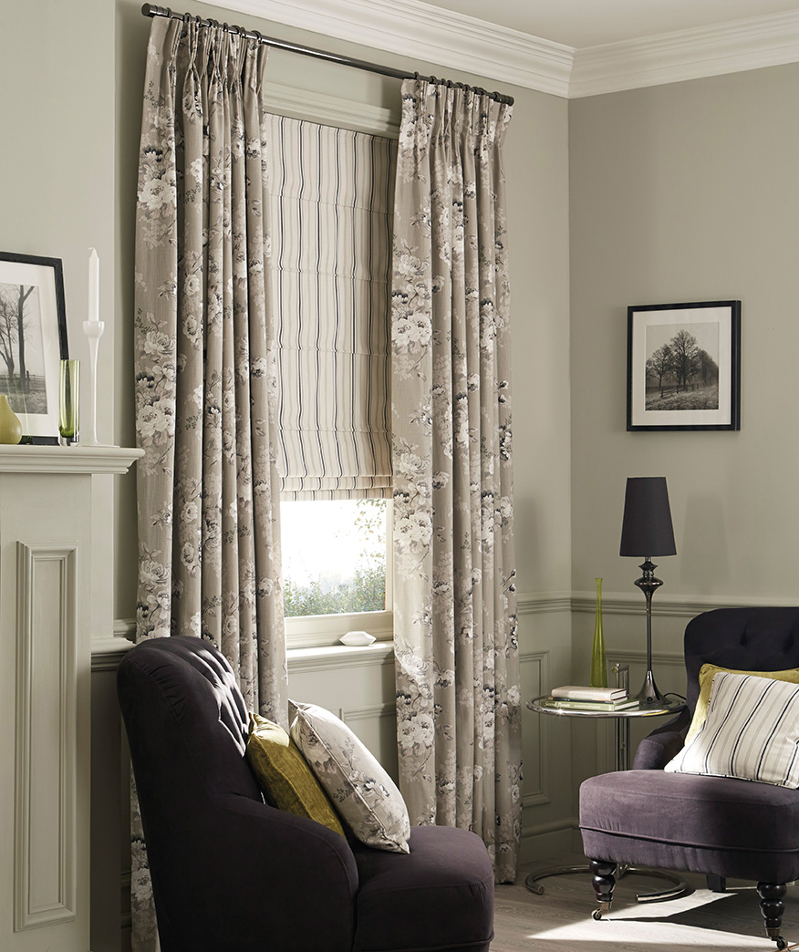 Roman Blinds And Curtains