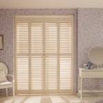 Full height white shutters