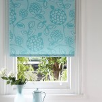 Huckleberry teal roller blind