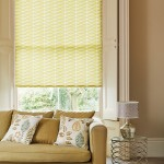 Illusions green roller blind