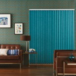 Moire teal vertical blind