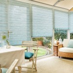 Light Blue Pleated BLinds