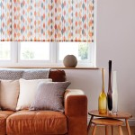 Ribbon orange roller blind