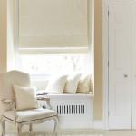 Sheba Ivory Roman blinds