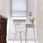 Ticking blue roller blind