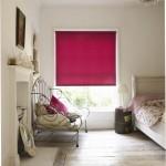 acacia raspberry roller blind