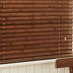 arena wv jarrah venetian blind with tape close up