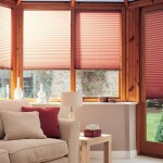 bali rosewood pleated blinds