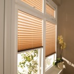 creped amber pleated blinds