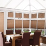 creped latte pleated blinds