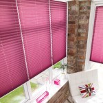 creped mauve pleated blinds