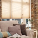 creped natural pleated blinds