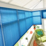Creped navy Pleated Blinds