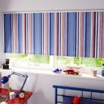 kasuri blue blackout roller blind