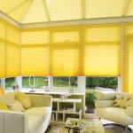 metropol yellow pleated blinds