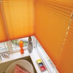 rialto mango pleated blinds