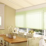 rochelle green stratford cream pleated blinds