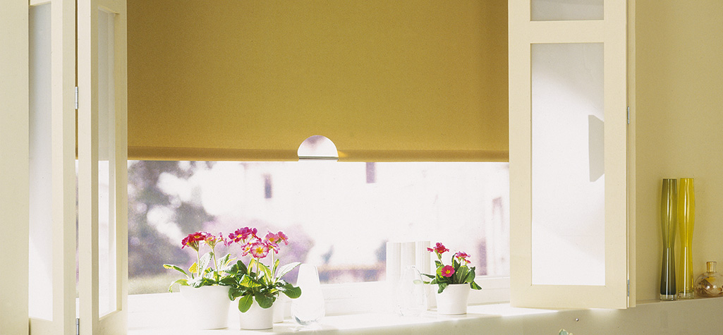 Yellow Roller Blind