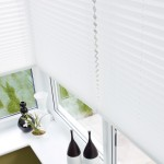 sienna ivory pleated blinds